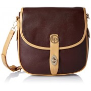 Lino Perros Women's Sling Bag (Brown)