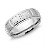 Unique Moderner Ring Edelstahl 7mm Breite