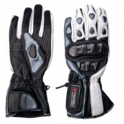 Modeka Sportie Motorcykel handskar Svart Vit M L