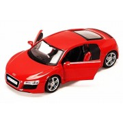 Audi R8 , Red - Maisto 34281 -1/24 Scale Diecast Model Toy Car