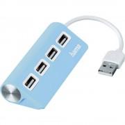 4-portni USB 2.0 hub 12179 Hama plava