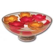 Set di 3 Fiori/Rose GALLEGGIANTI da SPA ROSSE