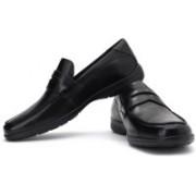 Clarks Un Lift Genuine Leather Slip On Shoes For Men(Black)