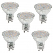 [lux.pro]® Set de 5 bombillas LED GU10 5W Spotlight 450LM luz blanca cálida 3000K foco empotrable SMD bajo consumo
