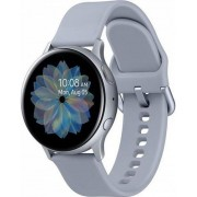 "Smartwatch Samsung Galaxy Watch Active 2 SM-R830, Procesor Dual-Core 1.15GHz, Super AMOLED 1.2"", 768MB RAM, 4GB Flash, Bluetooth, Wi-Fi, Carcasa Aluminiu, Bratara Cauciuc 40mm, Rezistent la apa si praf, Tizen (Argintiu)"