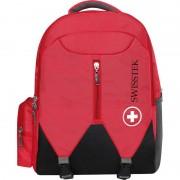 Swisstek laptop backpack 30 L Laptop Backpack (Red, Black)