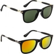 Honey Boney Retro Square Sunglasses(Black, Yellow)