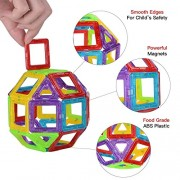 Hobnot 58 Pcs Mag - Magic Creativity Theme Brain Development Magnetic Learning Game Educational 3D Blocks Toy Set
