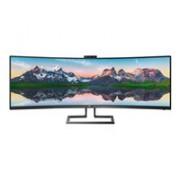 "Philips P-line 439P9H - LED-skärm - böjd - 43.4"" (43"" visbar)"