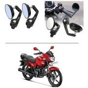 AutoStark 7/8 22cm Motorcycle Rear View Mirrors Handlebar Bar End Mirrors - Hero Glamour FI