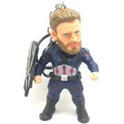 Trunkin Captain America With Shield Avengers Infinity War Marvel Keychain With Stand