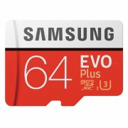 Samsung EVO Plus Micro SDHC USH-1 U3 64 GB Class10 FHD 100M / S-Rojo
