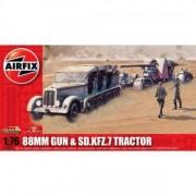 KIT CONSTRUCTIE AIRFIX TUN ANTITANC 88MM GUN SD KFZ TRACTOR (2303)