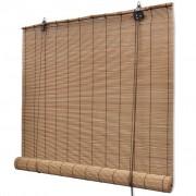 vidaXL Tapparella Avvolgibile Bambù Marrone 140 x 160 cm