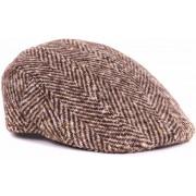 Beige Flat Hat Wolle - Beige Größe XL