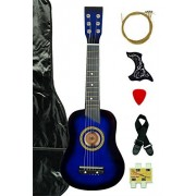 Blue Acoustic Guitar with Carrying Bag and Accessories & DirectlyCheap(TM) Translucent Blue Medium