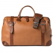 Barber Shop Quiff Doctor Bag Grained Brown Leather
