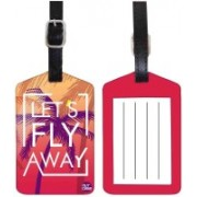 Nutcaseshop Lets Fly Away Luggage Tag(Multicolor)