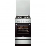 Aragaz Electrolux EKG51351OX, Gaz, 4 Arzatoare, Aprindere integrata plita, Grill, Curatare catalitica, 50x60 cm, Inox