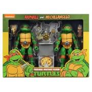 Michelangelo and Raphael Action Figure 2 Pack TMNT Cartoon Version (S2)