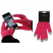 Rukavice pro smartphony - tmavě růžové
