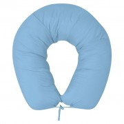 vidaXL Възглавница за бременност 40х170 см, светло синя