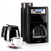 Klarstein Aromatica II Duo, mașină de cafea, râșniță, 1.25 l, negru (KG13-Aromatica II sB)