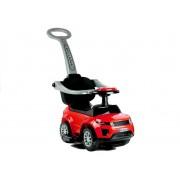 Dječja guralica Automobil s drškom crvena