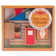 Детска играчка Дървена къща - Къде е мечето, 14034 Melissa and Doug, 000772140348