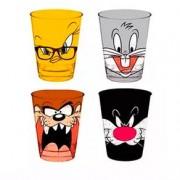 Conjunto de Copos Looney Tunes - 4 Unidades