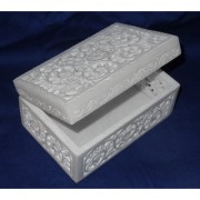 Jewelry Marble Box Hand Carved Art Handicraft Home Decor Best Gifts Art
