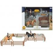 Geen Speelgoed paarden set twee paarden met ruiters