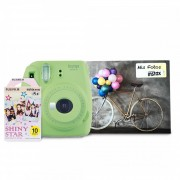 Instax mini 9 + 10 films + album - Verde