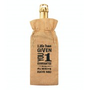 Coppens Bottle gift bag - Life has given you one guarantee - Overig - Grootte: Nvt