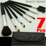 7pcs Makeup Cosmetic Brush Brushes Kit Set with free hoder Black Bag NEW