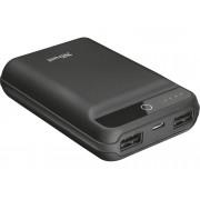Trust Powerbank TRUST Forta (10000 mAh - 2 Puertas USB - Negro)