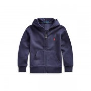 BOYS 1.5-6 YEARS Double-Knit Full-Zip Hoodie - French Navy - Size: 1.5 YRS