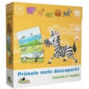 Puzzle Primele mele descoperiri Animale in habitat Noriel