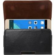 Let op type!! Universeel 5.5 inch horizontaal Litchi structuur PU leren Hoesje met draaibare riemhouder voor Samsung Galaxy S7 Edge & Note 5 & 4 & 3 & 2 Huawei P9 Plus & Honor 7i & Honor 6 Plus enz. (zwart)