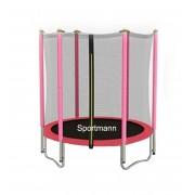 Trambulina cu plasa de protectie Sportmann roz 140 cm