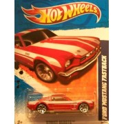 2011 Hot Wheels 89/244 - Street Beasts 9/10 - Ford Mustang Fastback (Red & White)