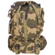 FRONTIER Camoflouge Nylon Light Weight Heavy Duty Travel Backpack Rucksack - 45(Green)