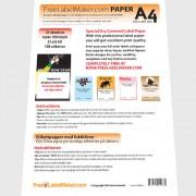 Etikettpapper A4 gummerade (fuktas) 25 ark