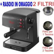 Macchina per Caffe per 1 o 2 tazze Espresso e Cappuccino caffe in polvere Crema Expresso