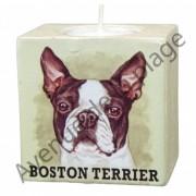 Bougeoir chien - Boston Terrier