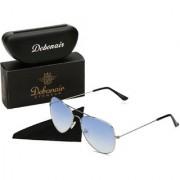 Debonair Gradient Blue UV Protected Unisex Aviator Sunglasses