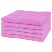 vidaXL Osušky sada 5 ks bavlna 360 g/m² 100x150 cm ružové