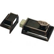 Broasca aplicata pentru usi Yale 123x66 mm, maro, incl. cilindru cu 3 chei