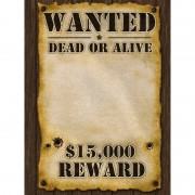 Merkloos Wanted poster 59x42 cm