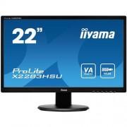 Monitor iiyama X2283HSU-B1DP, 22'', LCD, 5ms, 3000:1 (12M:1 ACR), FullHD, VGA, DVI, DisplayPort, 3x USB, repro